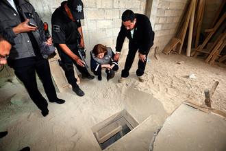 Вход в тоннель, по которому Эль Чапо покинул тюрьму