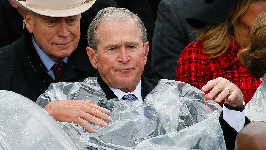 Бывший президент США Джордж Буш-младший во время церемонии инаугурации Дональда Трампа в Вашингтоне...
