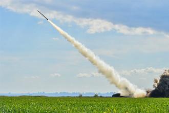 Во время испытания новой высокоточной управляемой ракеты на Украине, 26 марта 2017 года