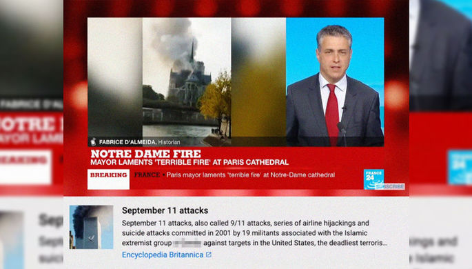 Новое 11 сентября: пожар в Нотр-Даме назвали терактом