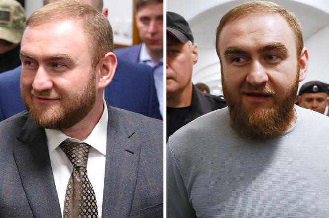 Рауф Арашуков в Басманном суде 30 января 2019 года и 27 июня 2019 года (коллаж)
