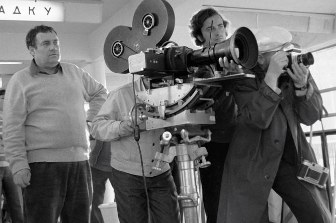 Эльдар Рязанов на съемках фильма «Приключение итальянцев в России», 1973 год