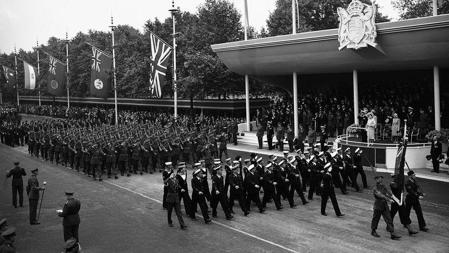 Празднование Победы в Лондоне в 1946 году
