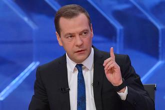 Премьер-министр России во время интервью «Разговор с Дмитрием Медведевым» журналистам пяти российских телеканалов, 15 декабря 2016 года