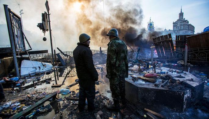 Ситуация в центре Киева, 19 февраля 2014 года