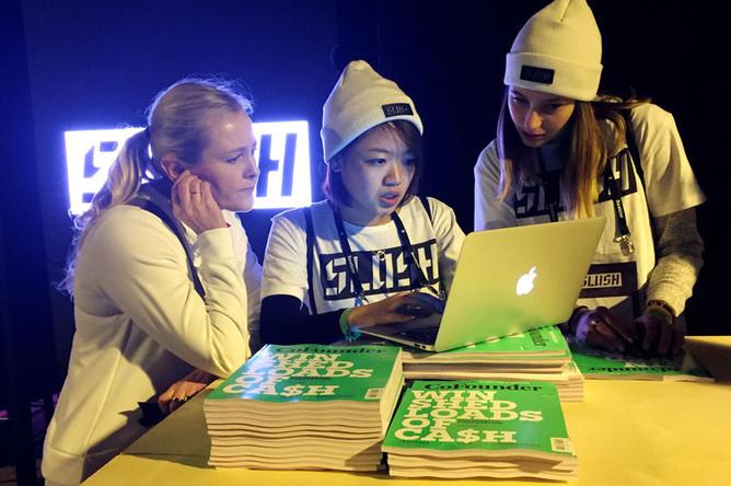 Участницы IT-конференции в Хельсинки 2016 год