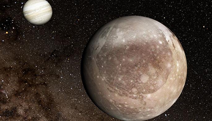 Ганимеда, спутник Юпитера