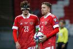 Во время матча отборочного этапа чемпионата мира пофутболу 2022года междусборными России и Словакии
