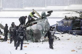 Два полицейских вертолета столкнулись в небе над Берлином