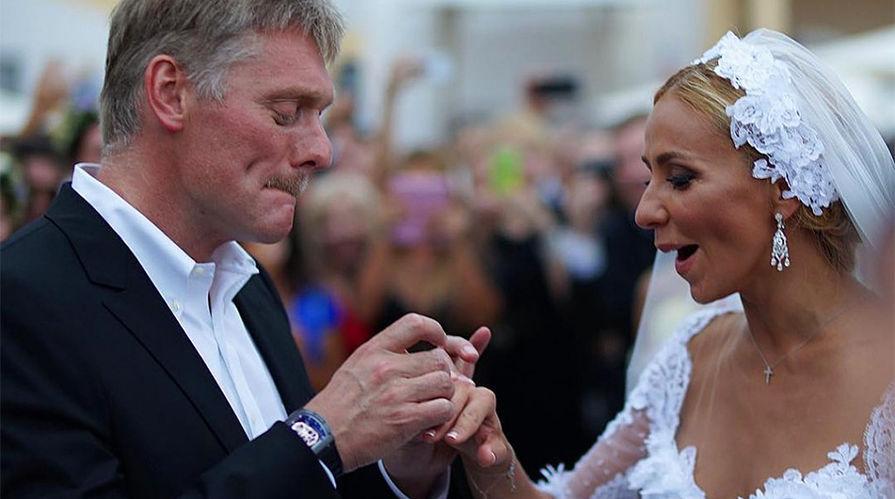 Дмитрий Песков и Татьяна Навка на свадьбе, 2015 год