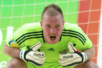 Андрей Бухлицкий надежно охранял ворота сборной России в матче с немцами