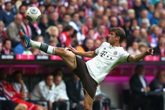Томас Мюлер забил единственный мяч «Баварии» в матче с «Вольфсбургом»