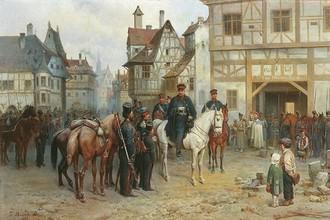 Прусский маршал Гебхард Блюхер и казаки в Бауцене