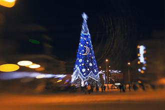 Новогодняя елка в центре города