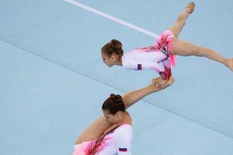 Выступление сборной России по акробатике