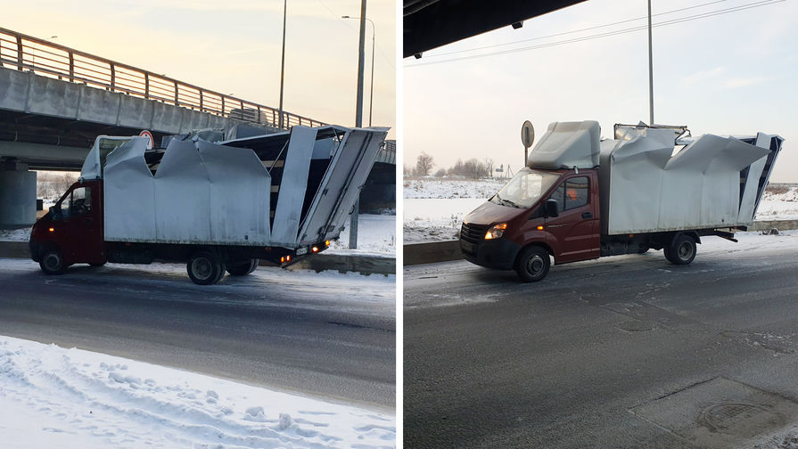 Инцидент с юбилейной 200-й «Газелью» на Ленсоветской дороге, 15 января 2021 года