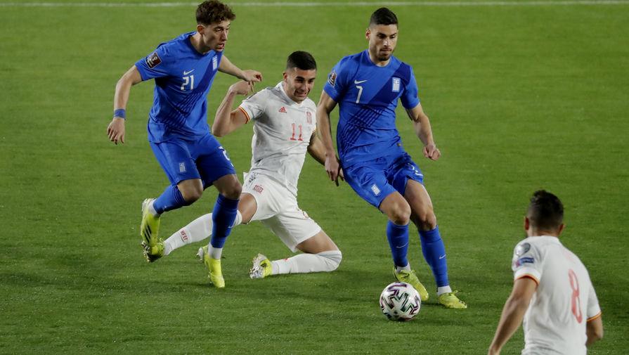 Эпизод матча Испания- Греция