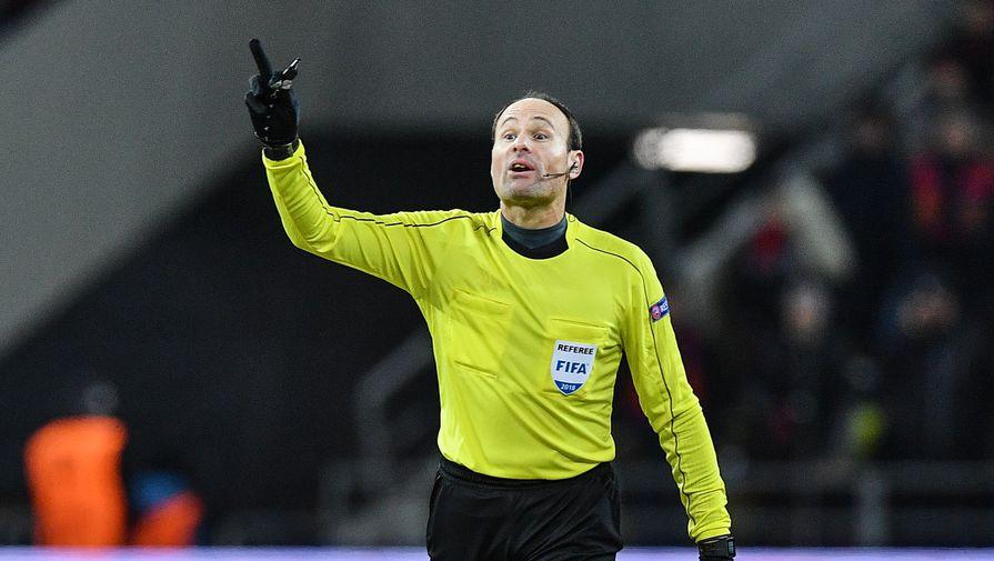 Первый матч сборной России на Евро обслужит арбитр финала Лиги чемпионов