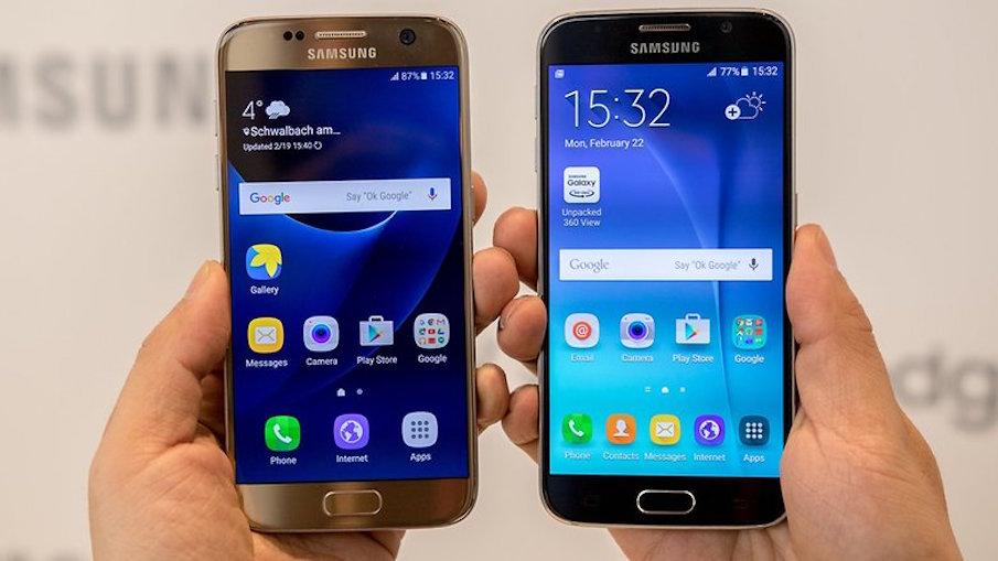 Отличить Galaxy S6 от S7 спереди можно только за счет обрамления клавиши и глазка камеры