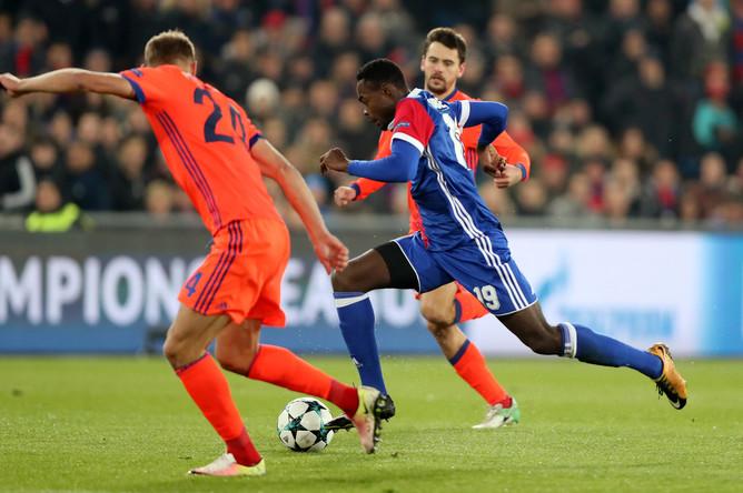 Матч четвертого тура группового этапа Лиги чемпионов между московским ЦСКА и швейцарским «Базелем»