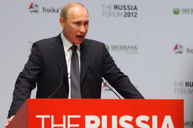 На форуме «Россия 2012» Владимир Путин представил инвесторам экономическую программу