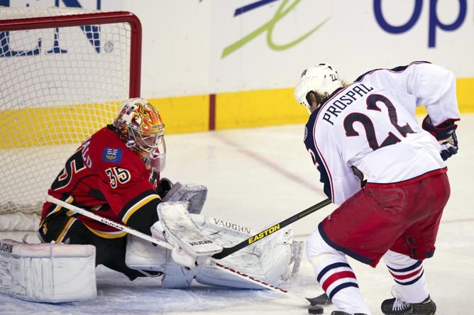 Форвард гостей Вацлав Проспал был признан третьей звездой дня в НХЛ