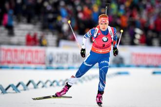 Чешская биатлонистка Габриэла Коукалова выиграла золотую медаль на чемпионате мира