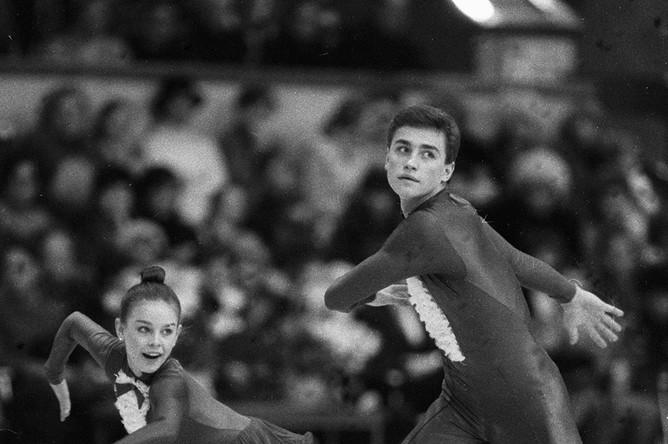 Фигуристы Екатерина Гордеева и Сергей Гриньков, 1985 год