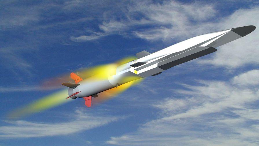 3D изображение гиперзвуковой ракеты