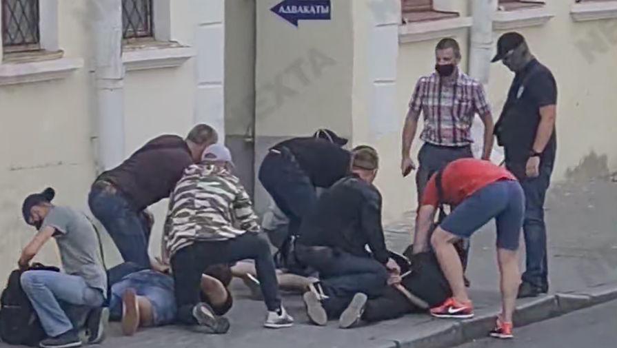 Задержание журналистов «Дождя» в Минске, 9 августа 2020 года