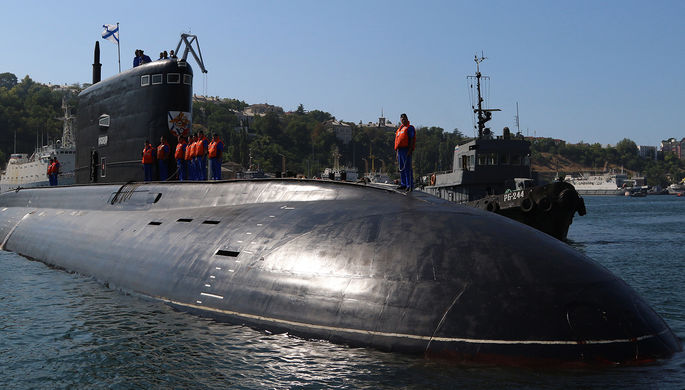 Четвертая дизельная подводная лодка Черноморского флота РФ «Краснодар» проекта 636...