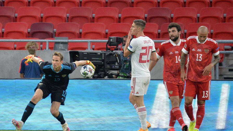 Эпизод матча Лиги наций Венгрия — Россия