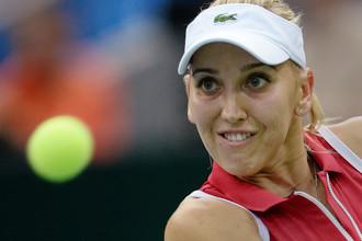 Елена Веснина не смогла пробиться в четвертьфинал турнира в Хобарте