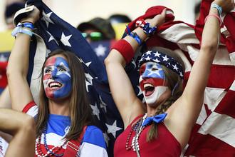Болельщицы сборной США