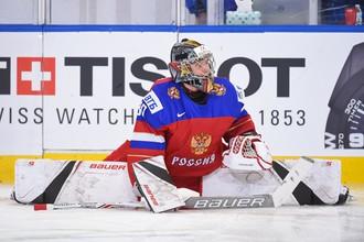 Вратарь молодежной сборной России по хоккею