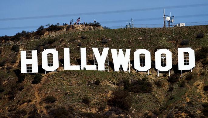 Знак Голливуда в Лос-Анджелесе, 1 января 2017 года