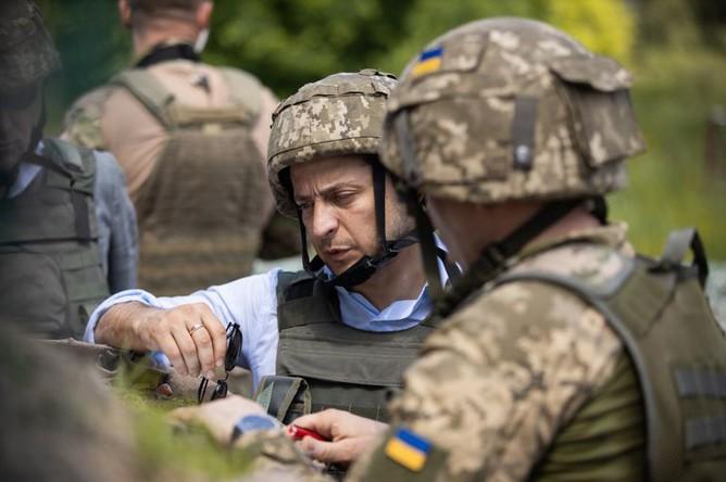 Президент Украины во время посещения Донбасса, 27 мая 2019 года