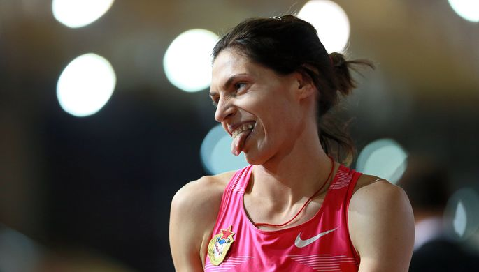 Антонина Кривошапка во время чемпионата России-2016 в закрытых помещениях, где она выиграла золото в беге на 400 м