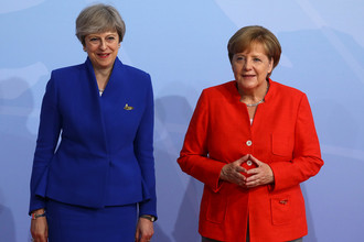 Премьер-министр Великобритании Тереза Мэй и канцлер Германии Ангела Меркель