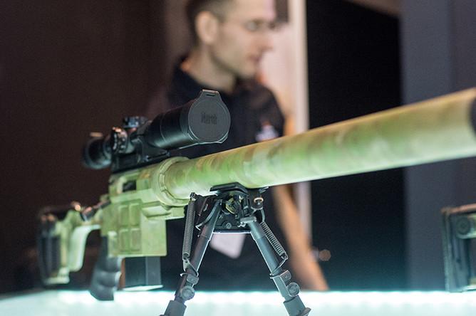 Тактическая винтовка ДВЛ-10 «Диверсант» на XX Международной выставке средств обеспечения безопасности государства «Интерполитех- 2016» в Москве