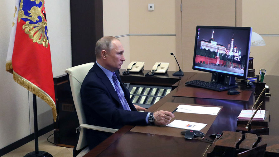Президент России Владимир Путин, 30 марта 2020 года