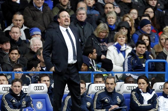 Главный тренер «Челси» Рафаэль Бенитес часто подвергается критике