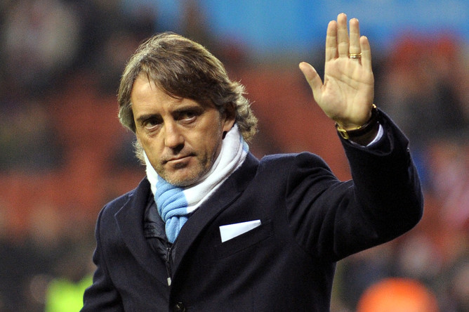 Роберто Манчини уволен с поста главного тренера «Манчестер Сити»