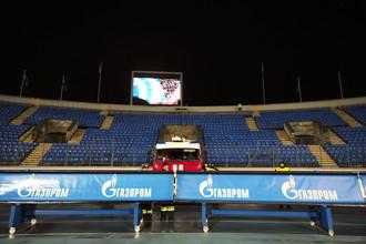 Баннеры «Газпрома» на стадионе «Зенита»