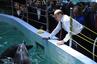 Владимир Путин в Приморском океанариуме