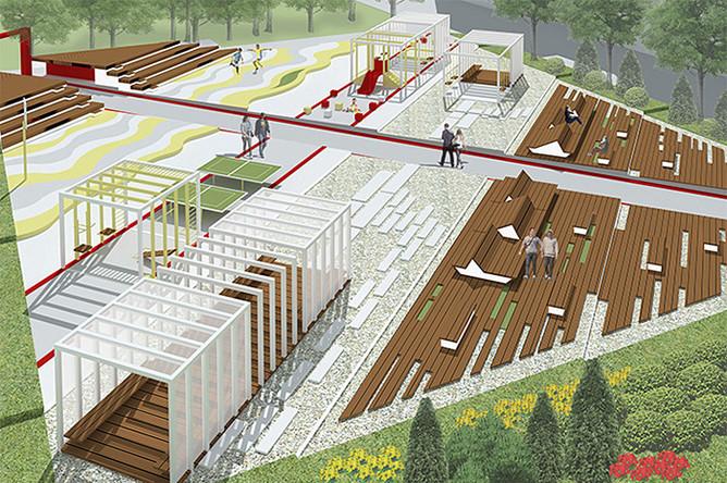 Проект, занявший второе место конкурса «Двор архитекторов»