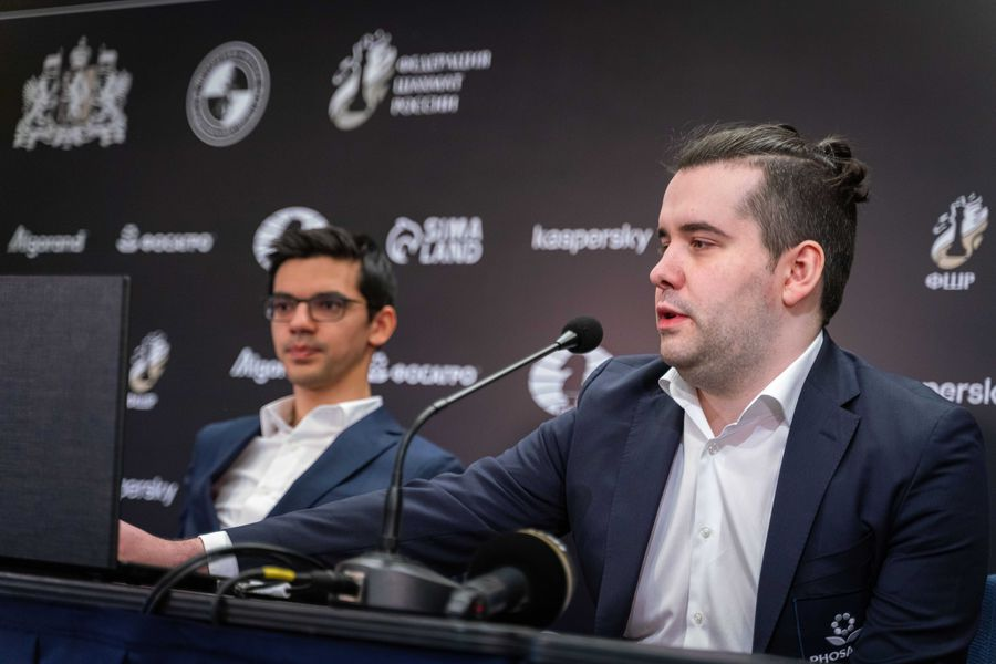 Российский шахматист, гроссмейстер Ян Непомнящий