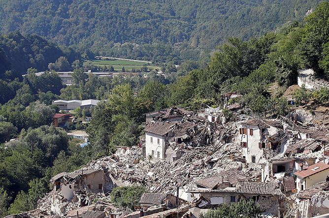 Разрушения в Пескара-дель-Тронто