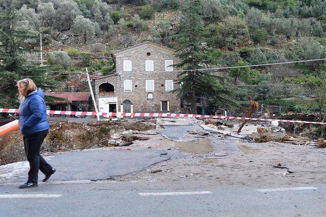 Последствия шторма «Алекс» в Санремо