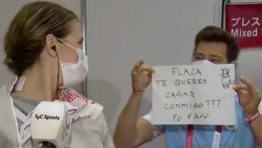 Тренер фехтовальщицы сделал ей предложение в прямом эфире на Олимпиаде